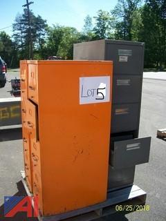 Breakroom Tables And Chairs/ (3) Filing Cabinets