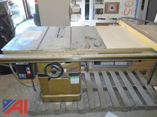 "Powermatic 10"" Table Saw with Extension"