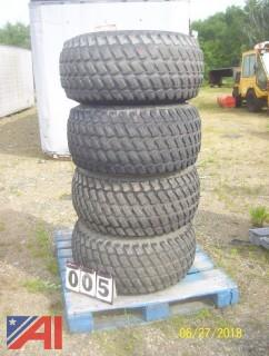 (4) Trackless Turf Tires