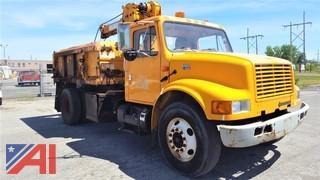 2001 International 4700 Catch Basin/Dump Truck & Crane