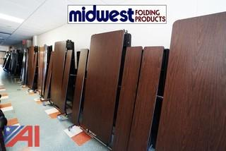 (18) Midwest 12' Roll N' Fold Cafeteria Tables