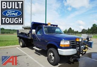 1997 Ford F350 XL 4WD Dump Truck with Plow & Spreader
