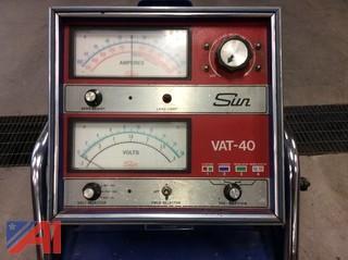 Sun VAT-40 Alternator/Battery Tester on Cart