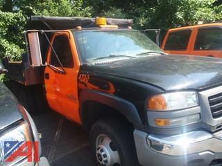2006 GMC Sierra 3500 Mason Dump Truck with Plow