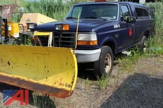 1994 Ford F250 Pickup with Plow