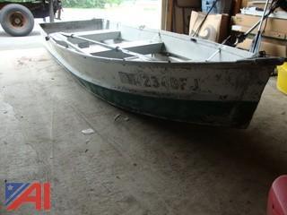 #1398 Metal Rowboat