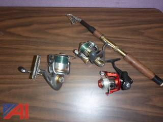#1413  Fishing Pole, Bill Dance and Navigator Reels