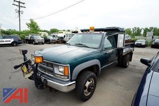 1998 Chevrolet 3500 Cheyenne 4WD Low Boy Dump Truck