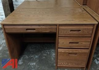 (10) 4-Drawer Desks