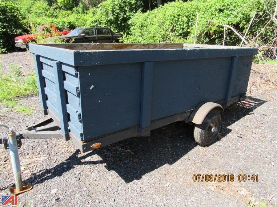 Auctions International - Auction: City of Poughkeepsie PD, NY #14687 ITEM: Homemade Utility Trailer