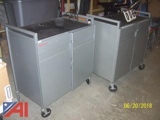 (2) Lap Top Carts