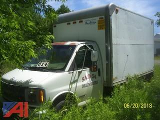 2000 Chevy Express G3500 Cube Van