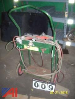 Cart with Torch Set