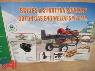 30 Ton Gas Engine Log Splitter