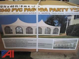 20' x 40' Pagoda Party Tent