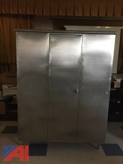 Stainless Steel Storage Units & Hanging Pot Rack