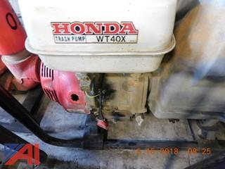 "Honda 4"" Trash Pump, WT 40X"