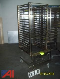 Rolling Rack with Shelves