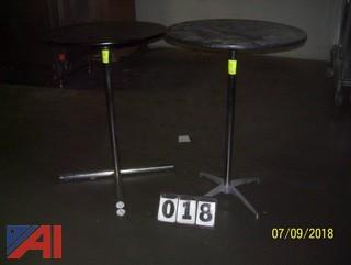 (2) High Top Round Tables