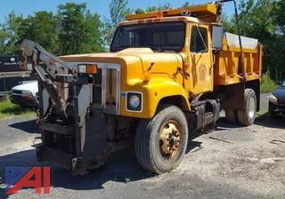 2001 International 2574 Dump Truck with Spreader and Plow