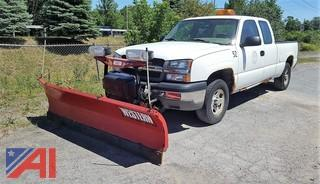 2004 Chevrolet Silverado 1500 Pickup Truck with Plow