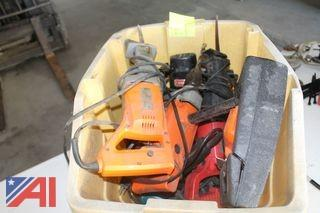 Tote of Assorted Power Tools