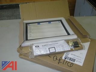 Clarity Custom Print 11'' W x 13.5'' H Dry Erase Board