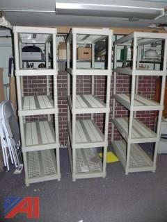 (3) Keter Plastic Modular Shelves