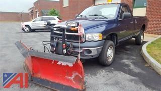 2004 Dodge Ram 2500 Pickup Truck & Plow