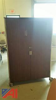 Double Door Lockable Rolling Cabinet
