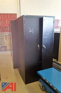 (7) Double Door Metal Cabinets