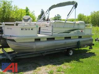 2005 Sun Tracker Party Barge Boat and Trailer