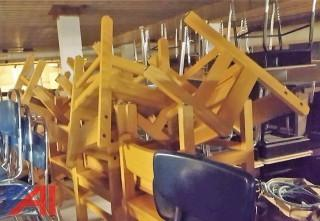 (25) Wooden Library Chairs