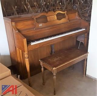 Wurlitzer Upright Piano & Bench