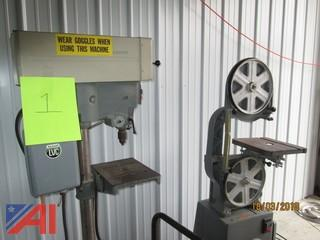 (1) Drill Press and (1) Rockwell Band Saw