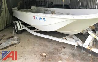 1974 Boston Whaler Skiff Boat with Trailer