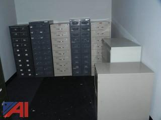 (12) Various Size File Cabinets