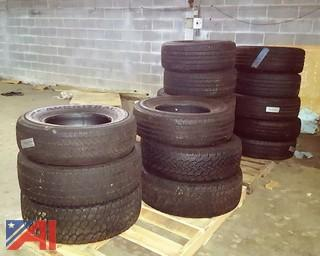 (16) Assorted Size Tires
