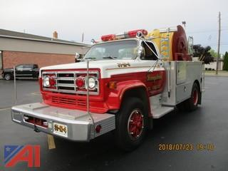 1986 Pierce/GMC Hose Tender with Reel Fire Truck