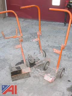 (3) Road Saw Carts
