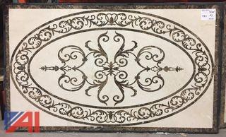 Marble Inlay Floor Medallion