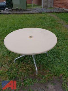 (50) Round Aluminum Tables
