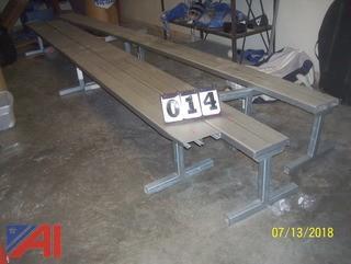 (4) 15' Aluminum Benches