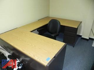 (3) Section Desk with Chair (A1)