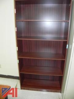 (11) Wooden Bookshelves and Shelving Units (9 Various Rooms)
