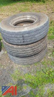(3) Continental HSU Tires & Rims