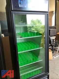 True GDM‑26 Single Door Reach‑In Display Cooler