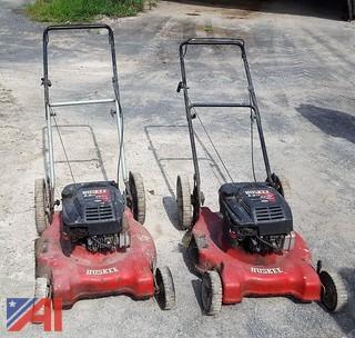 (2) Huskee Walk Behind Lawn Mowers