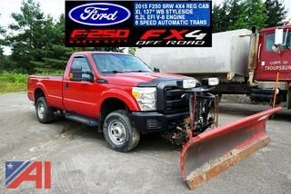**5% BP** 2015 Ford F250 XL SD Pickup Truck with Plow