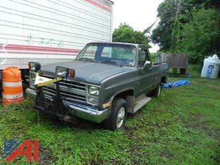 1986 Chevrolet C/K 10 Pickup with Plow